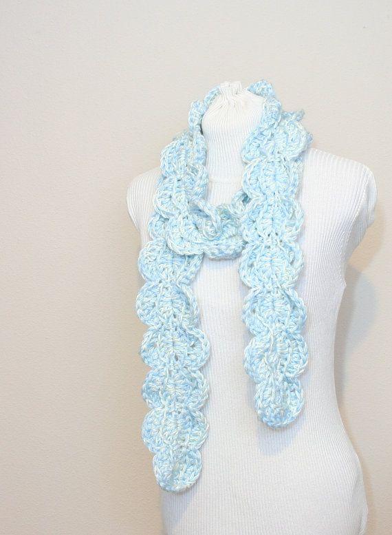 Pdf Digital Patterncrochet Scarf Pattern Crochet Ruffle Scarf