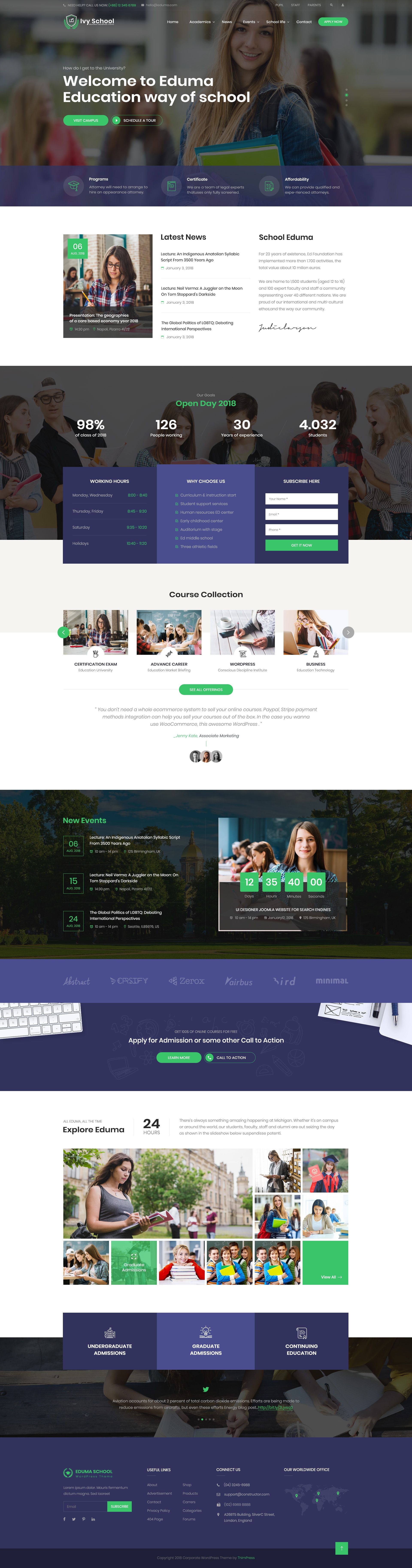 Ivyprep Education School Psd Template Education Wordpress Themes Psd Templates School Template