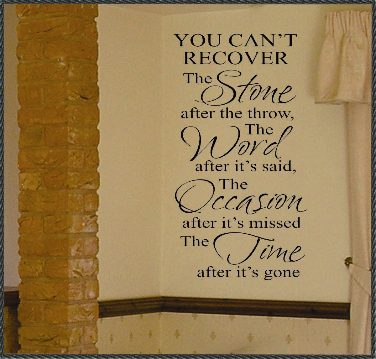Can T Recover Stone Word Time Decal Inspirational Wall