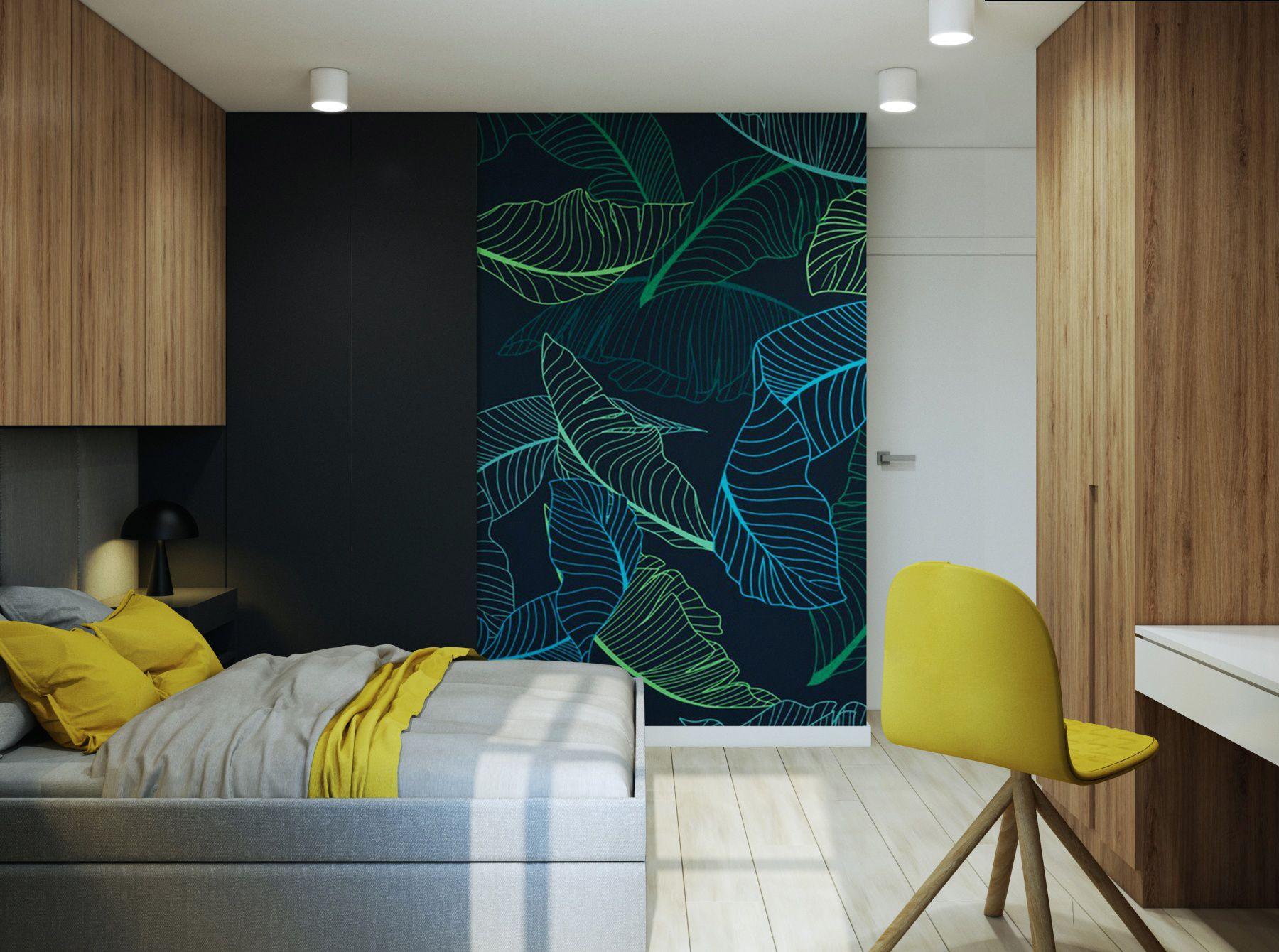 Sypialnia Z Motywem Zieleni Wnętrza Macz Architektura