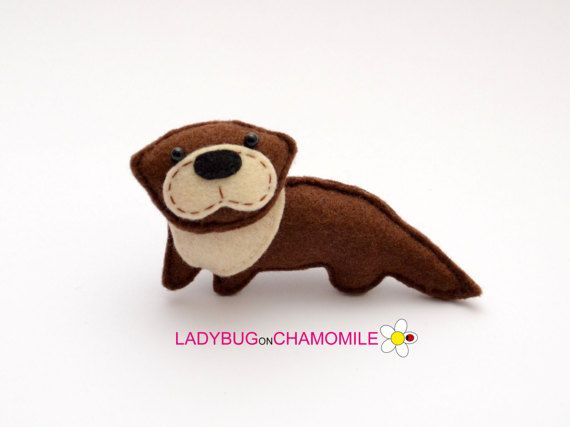 Filz Otter Gefullte Filz Otter Ornament Spielzeug Magnet