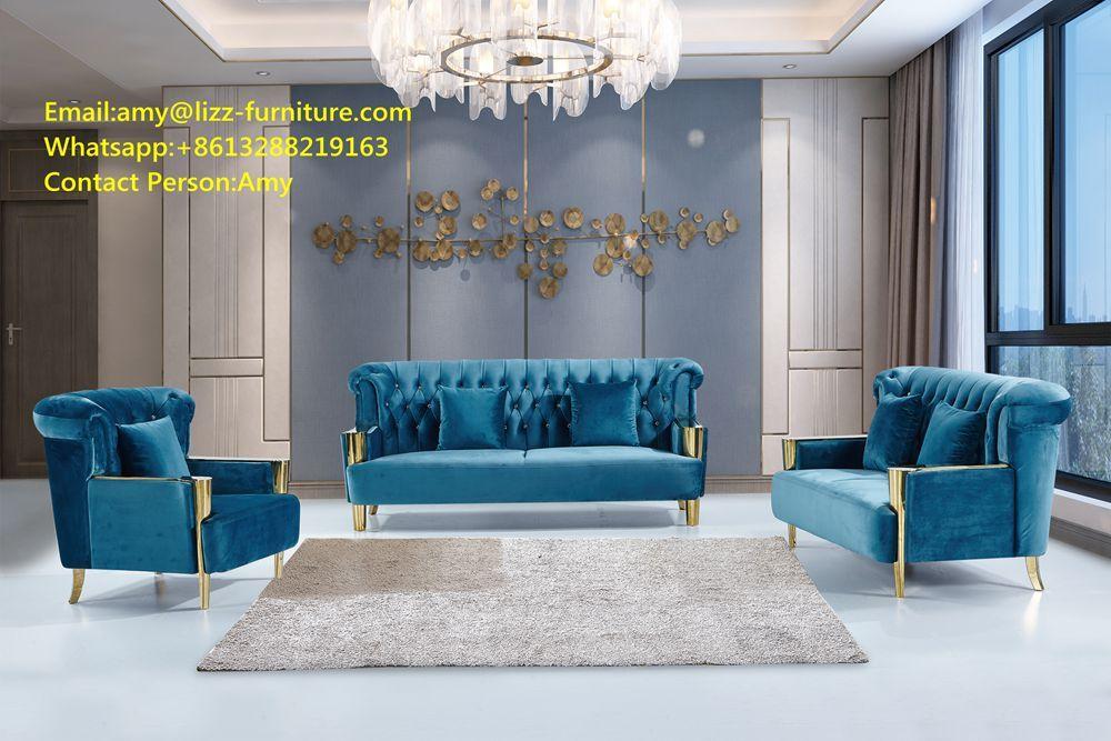 Divani Casa Lf806 Modern Blue Sofa Chair Set Sofa Furniture China Home Livingroom Couch Leather Sofabed M Modern Blue Sofa Blue Sofa Chair Furniture