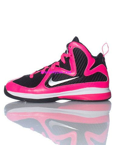a9a86c307bd7 Womens Pink Lebron 9 Shoes Black Laser