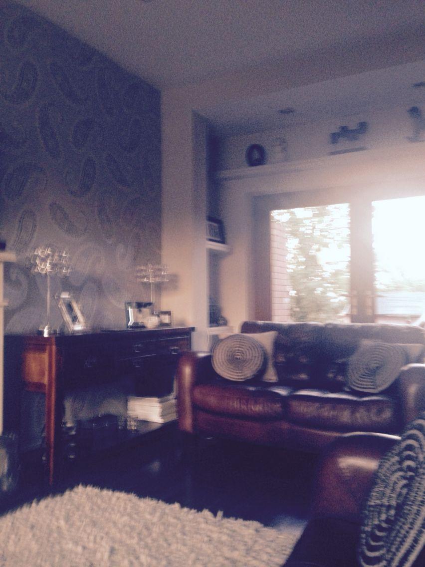 Laura Ashley Dove Grey Emperor Paisley Wallpaper Home