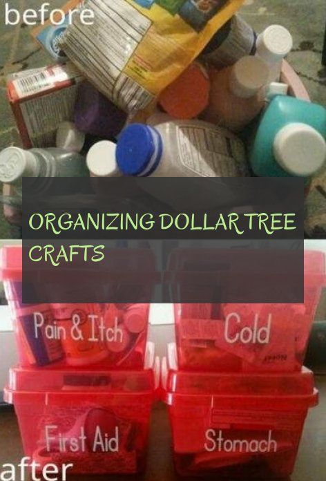 organizing dollar tree crafts