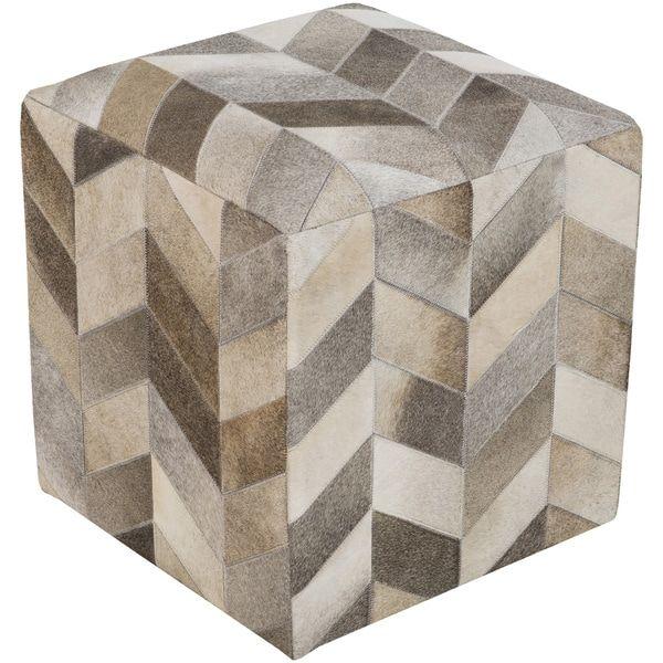 Brilliant Checkered Daloa Square Hair On Hide 18 Inch Pouf Ottomans Creativecarmelina Interior Chair Design Creativecarmelinacom