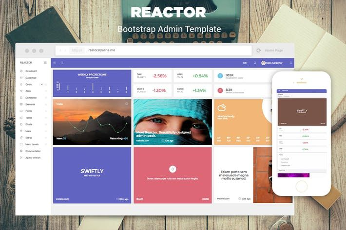 Reactor bootstrap admin template by iamnyasha web design reactor bootstrap admin template by iamnyasha flashek Choice Image