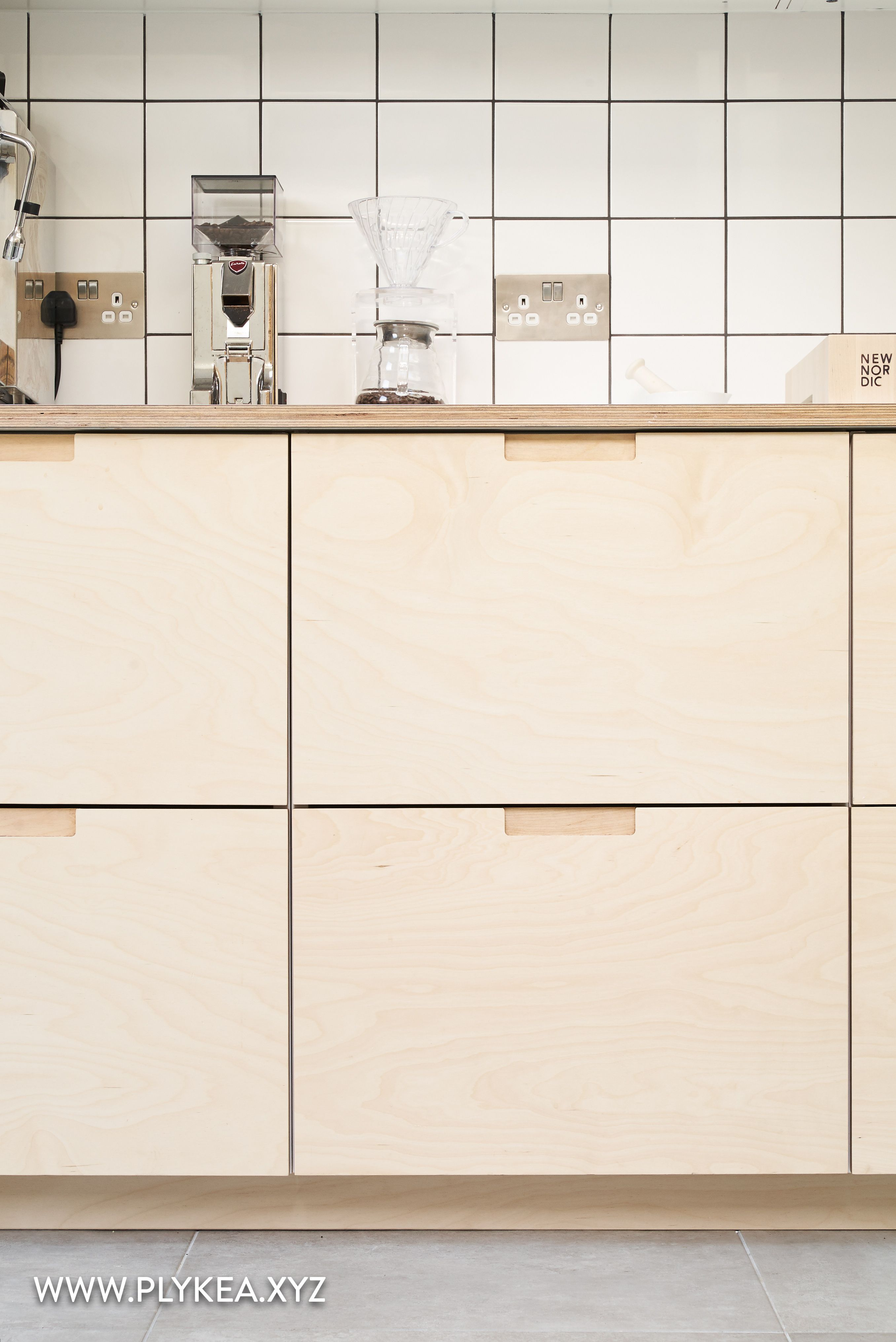 Thi kitchen features birch plywood fronts with our semi-recessed ...