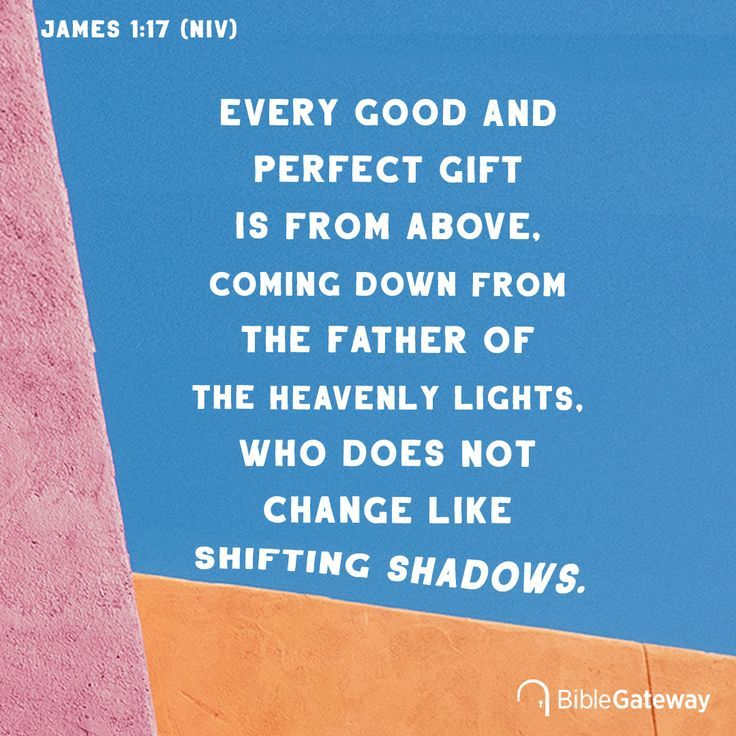 Every Good And Perfect Gift Is From Above Coming Down