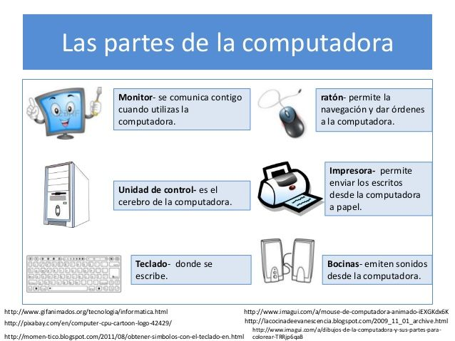 Imagenes de computadoras para colorear y sus partes - Imagui ...