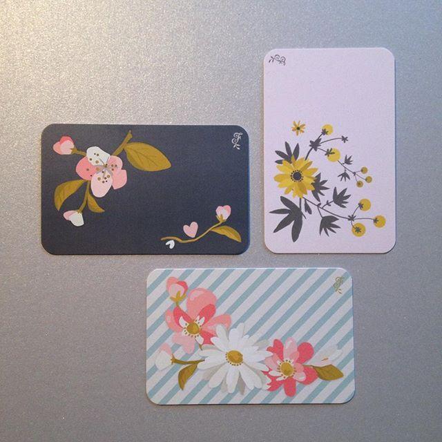 Mes Petites Cartes De Visite Fleurs Flow29jours Illustrator
