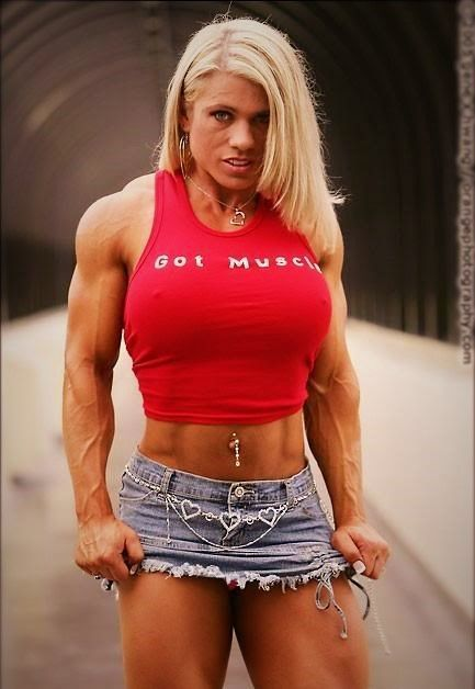 melissa Blonde female bodybuilder