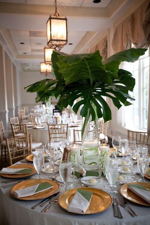 57 Cheerful Tropical Wedding Table Settings | Table settings ...