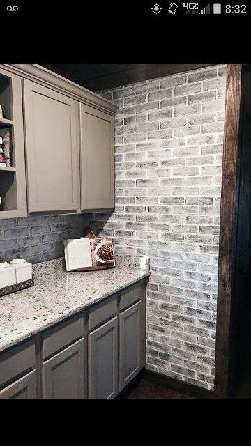 White Wash Faux Brick Love It Faux Brick Walls Brick