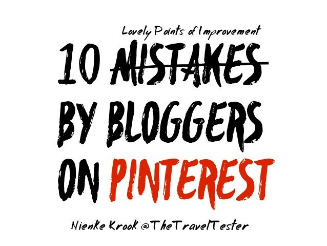 Meet the Blogger 2015 (#MTBAMS) Presentation on the use of Pinterest for Bloggers. By Nienke Krook | The Travel Tester