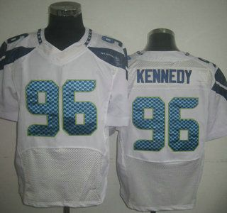 f98d8a2c52f Nike Seattle Seahawks Jersey  96 Cortez Kennedy White Elite Jerseys ...
