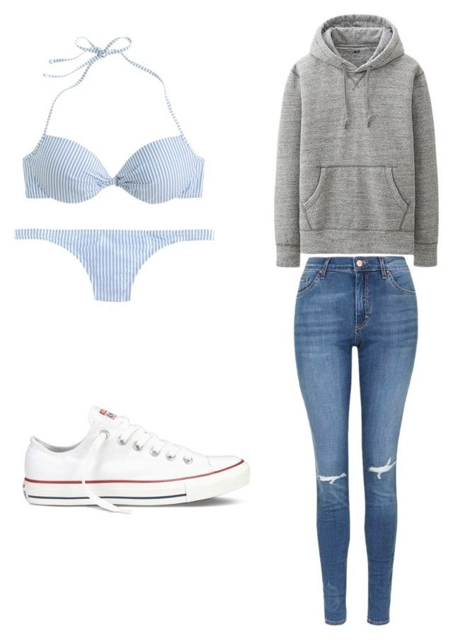 """Going to a party meetings a boy"" by raliegh25 on Polyvore featuring J.Crew, Uniqlo, Topshop, Converse, women's clothing, women, female, woman, misses and juniors"