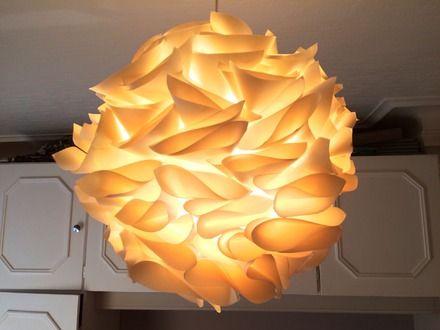 Suspension Lampe En Papier Couleur écru Ivoire Crème Blanc