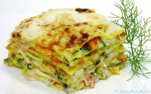 Il Ricettario : Lasagnette al salmone con verdurine croccanti