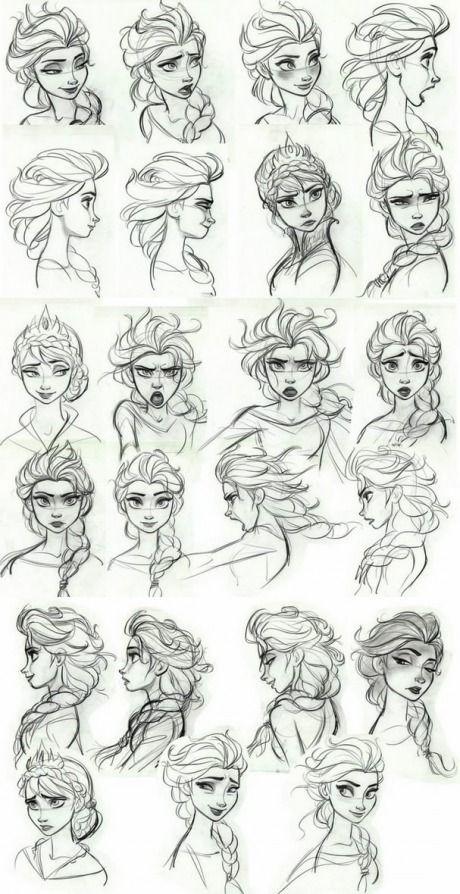 Disney Style Drawing Arte Conceptual De Disney Arte Conceptual Disney Expresiones De La Cara