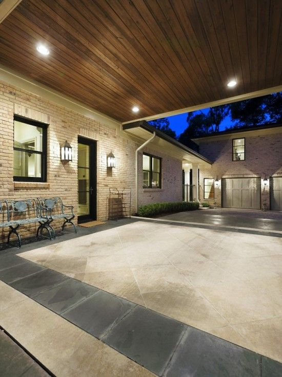 Car Port Design Pictures Remodel Decor And Ideas Page 2 House With Porch Traditional Exterior Driveway Design