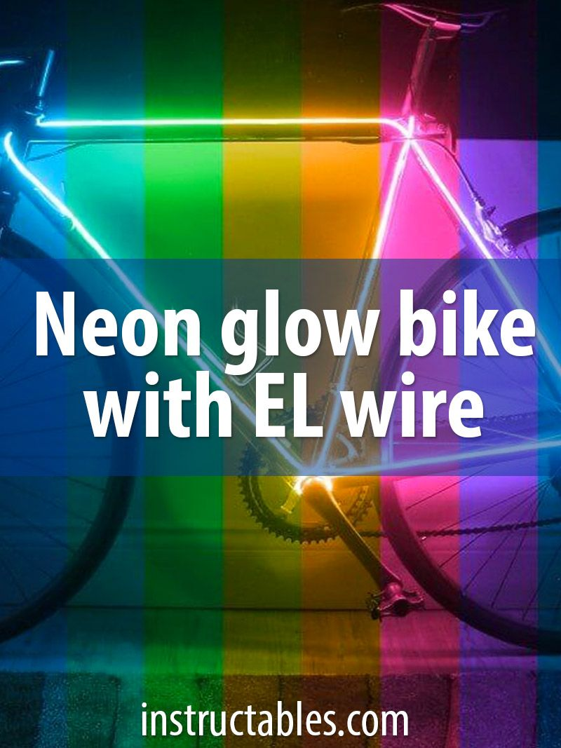Neon Glow Bike With EL Wire Kits | Darts, Neon and Silhouettes