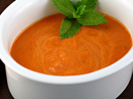 Red pepper and Eggplant Soup