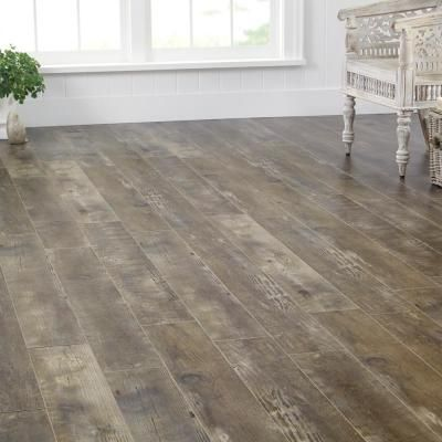 Home Decorators Collection Radcliffe Aged Hickory 12 mm Thick x 6-7/16 in. Wide x 47-3/4 in. Length Laminate Flooring (17.08 sq. ft. / case)-HL1251 - The Home Depot
