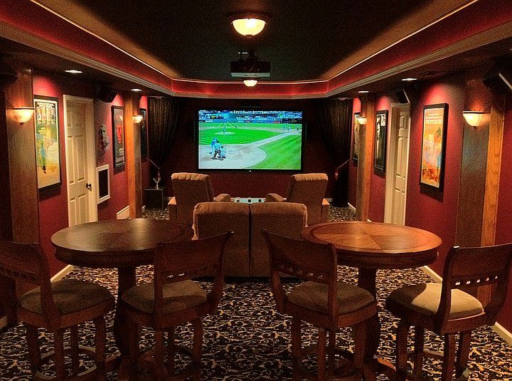 Man Cave Theater : Of the best man cave ideas surround sound custom