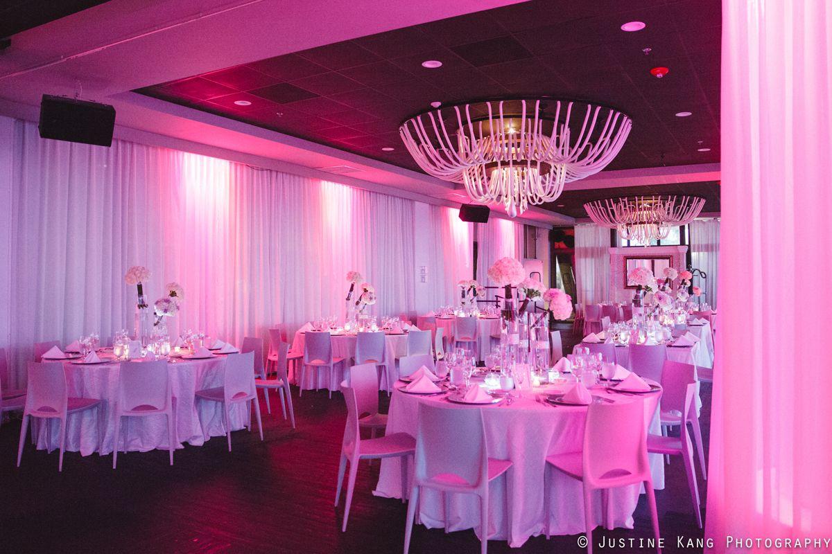 White Rose Wedding Centerpieces at Modern Black Tie Wedding | The ...