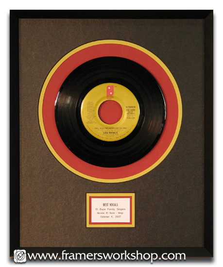 Framed 8 Inch Vinyl Record Unique Items To Custom Frame