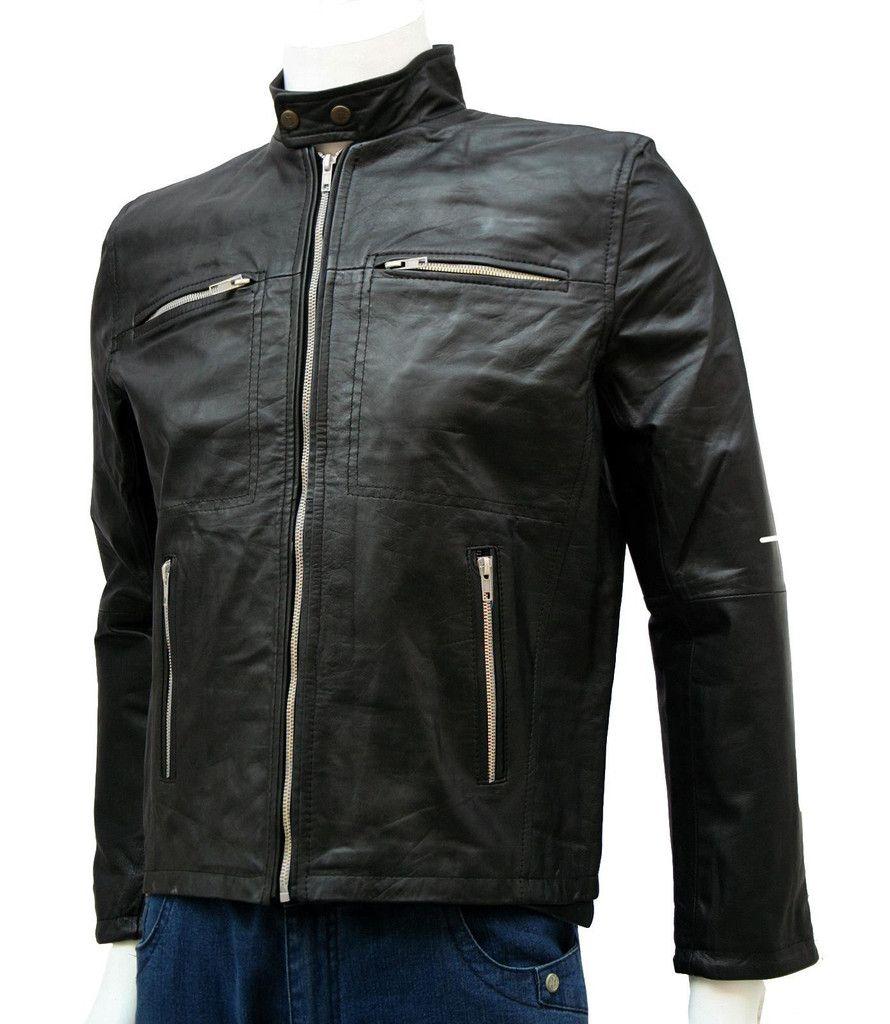 Donnie Yen Black Biker Leather Jacket