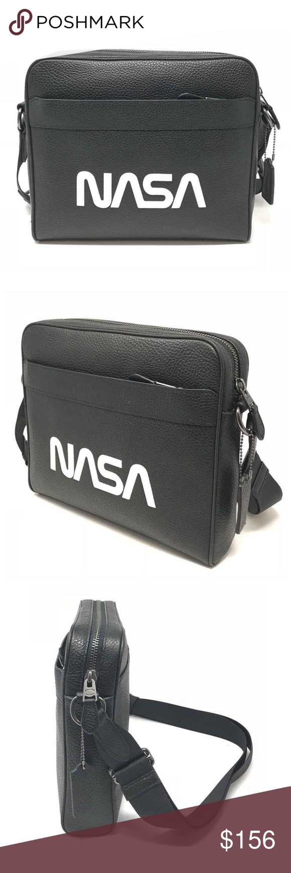 f3d4b1a20d86 Coach X NASA Men s Charles Camera Leather Bag Coach X NASA Men s Charles  Camera Bag With