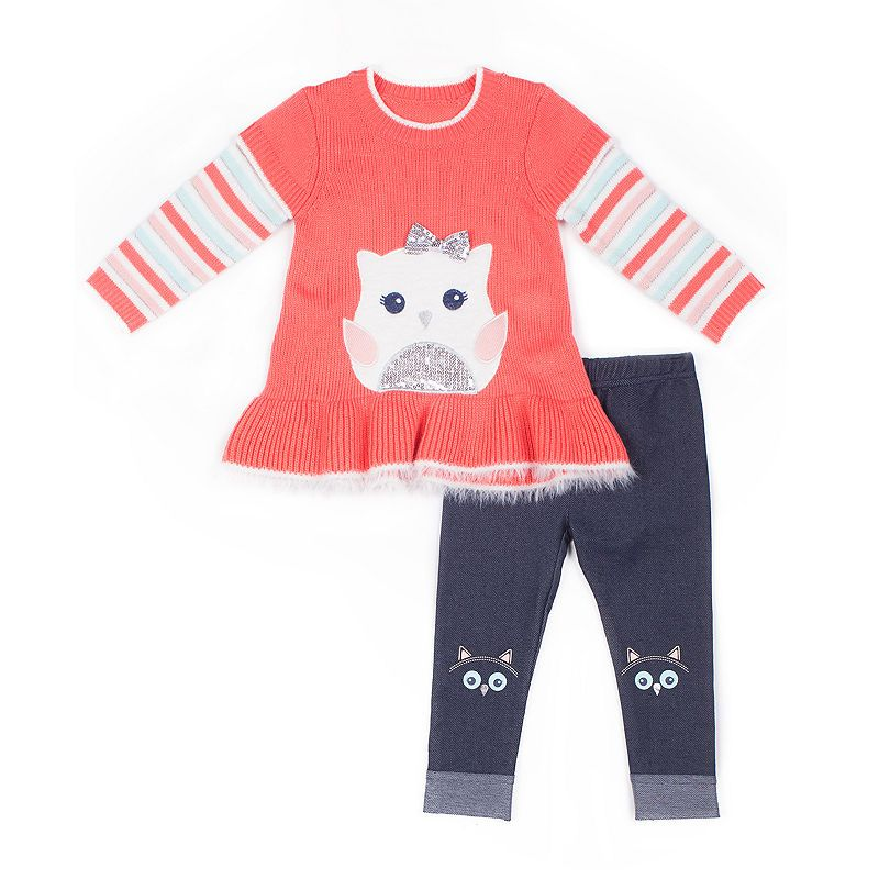 6722124a0ca48 Little Lass 2-pc. Legging Set-Baby Girls | Products in 2019 | Peplum ...