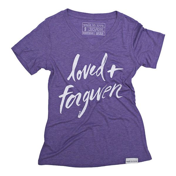 Loved + Forgiven Purple Women's Relaxed V-Neck