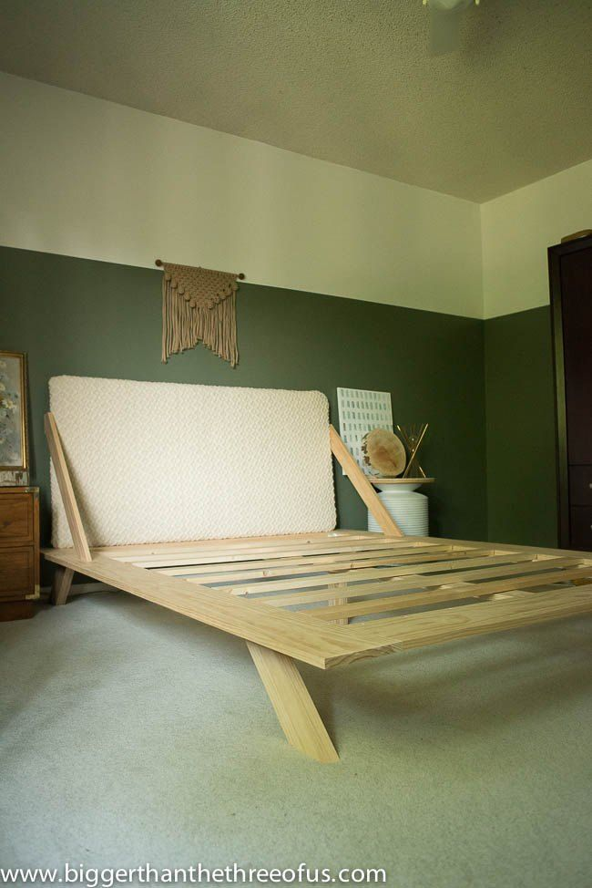 Diy Mid Century Modern Inspired Bed With Images Diy Bed Frame