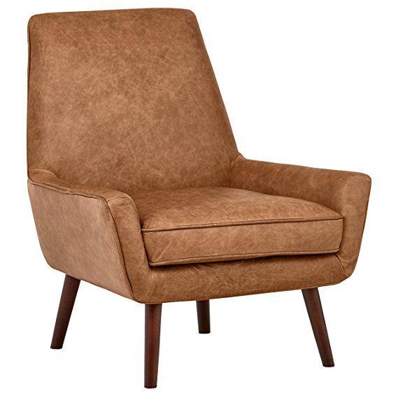 Best Rivet Jamie Mid Century Leather Low Arm Accent Chair 31 400 x 300