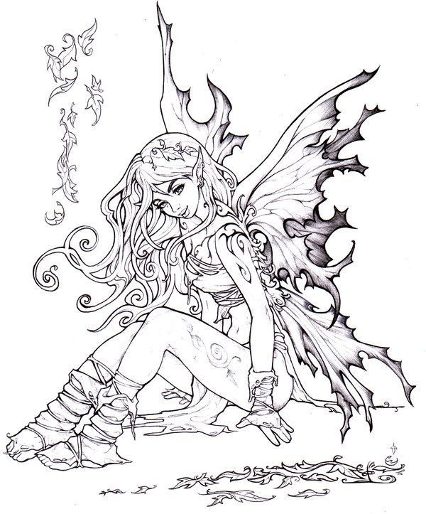 evil fairy coloring pages for adults - pin by christina allen on fairy 39 s and elves pinterest