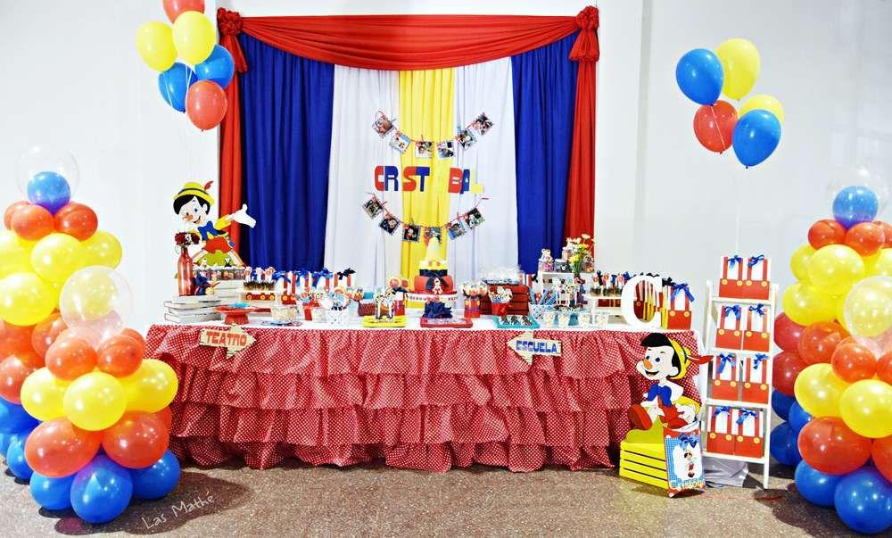 Pinocho Birthday Party Ideas Photo 1 Of 13 Birthday Birthday Parties 2nd Birthday Parties