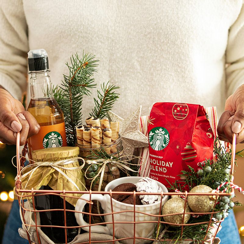 Coffee Gift Basket Ideas Coffee gift baskets, Holiday