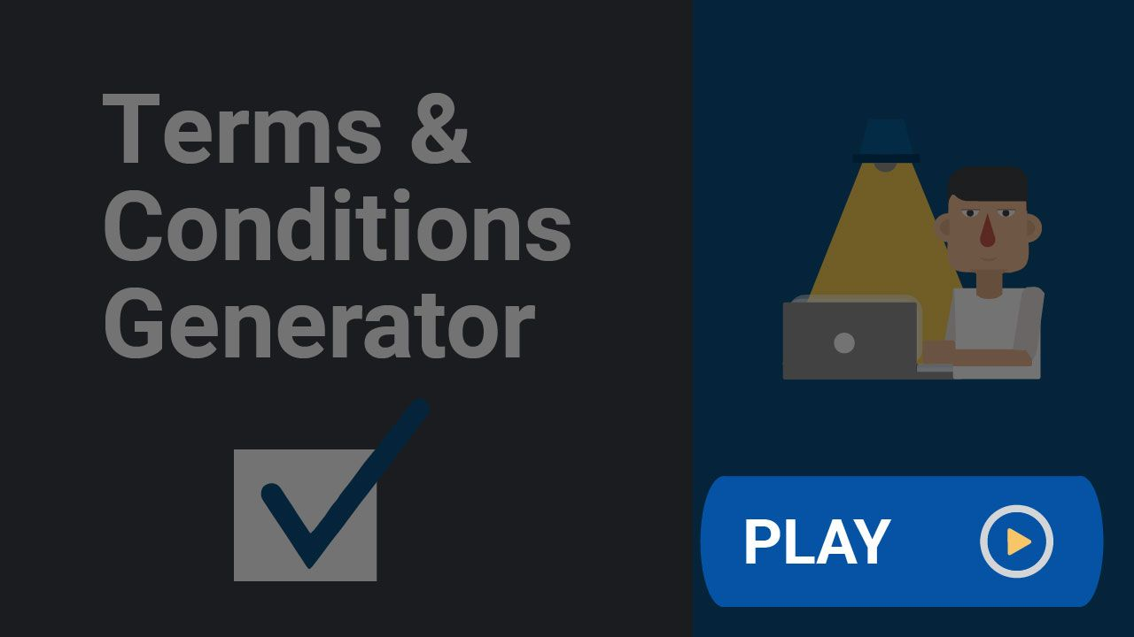 Use the TermsFeed Terms and Conditions Generator to create