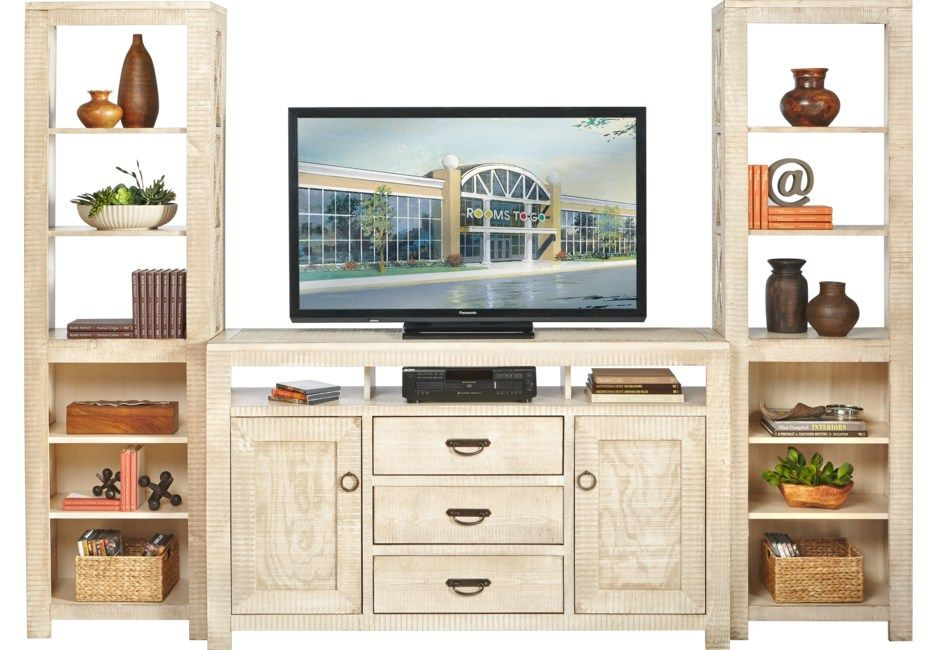 South Creek White 3 Pc Wall Unit Wall Unit Entertainment Wall Units Buy Office Furniture