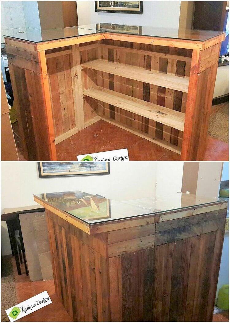 Diy Pallet Counter Table Reception Desk Reception Desk Diy