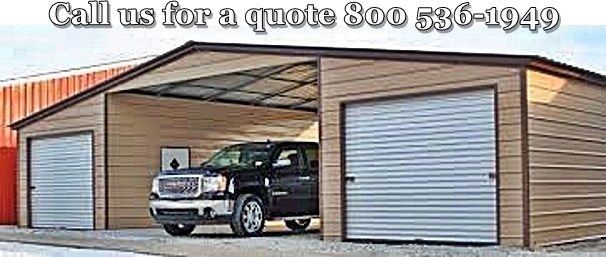 Three part carport garage combo - motor coach garage - low cost ...