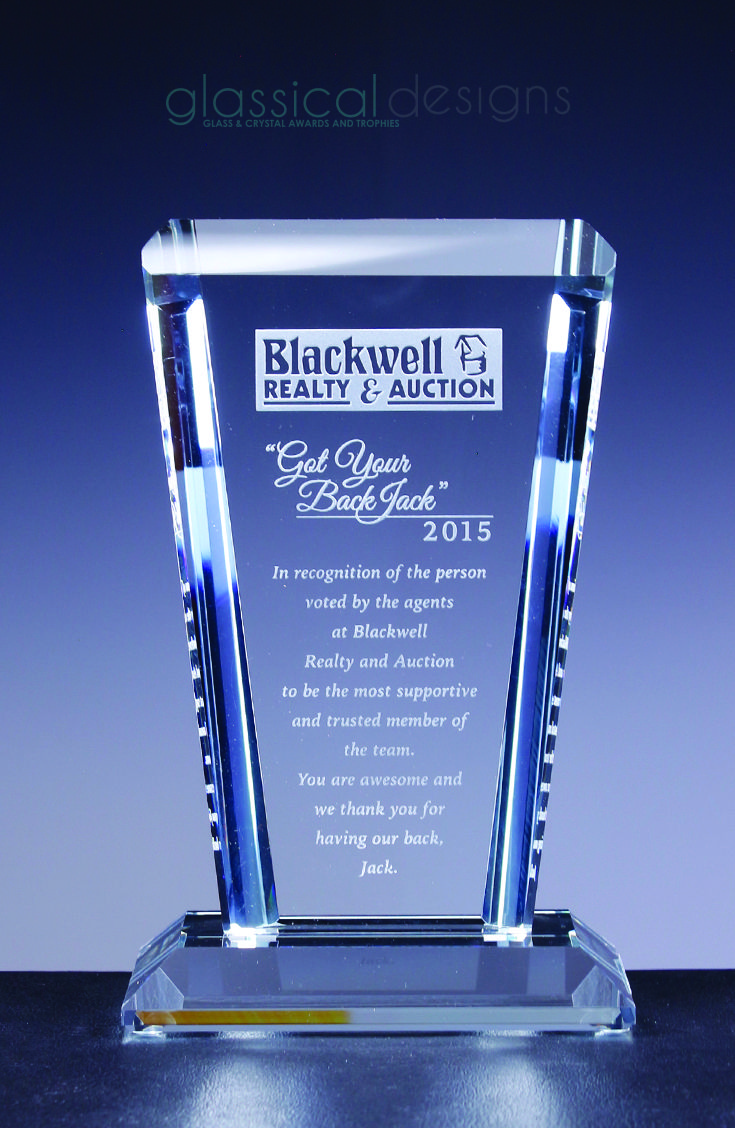 chilten award by glassical designs made with the finest clear glass