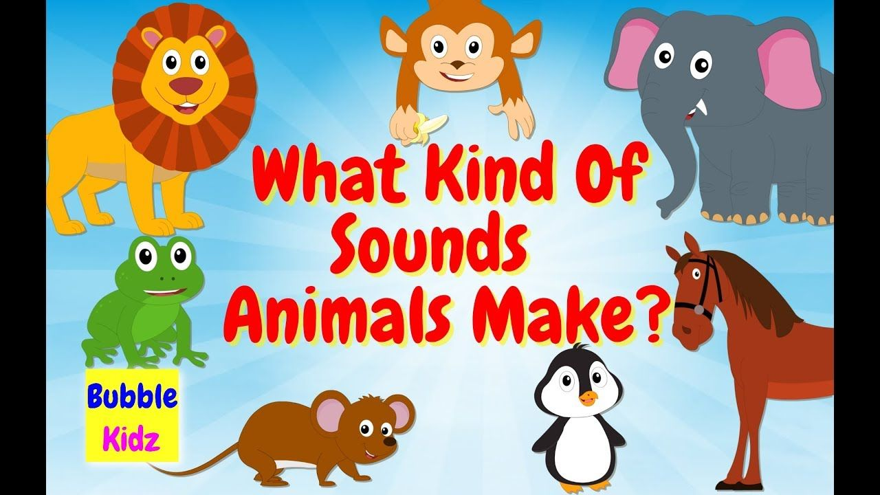 Animal Names And Sounds Learn About Names Of Different Animals And The Fun Learning Educational Videos Learning