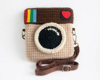 Crochet Lomo Kamera Geldbörse / Pastell Mint Farbe #camerapurse