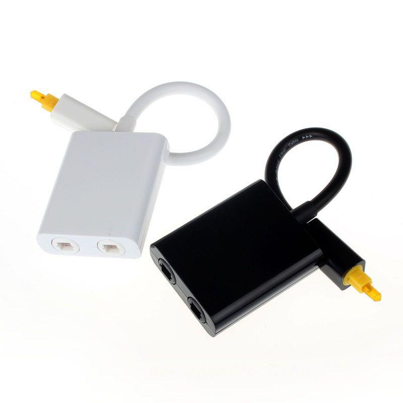 Alta qualità mini usb digital toslink fibra ottica audio da 1a 2 femmina splitter adapter micro usb cable accessori hot-vendita # jan5