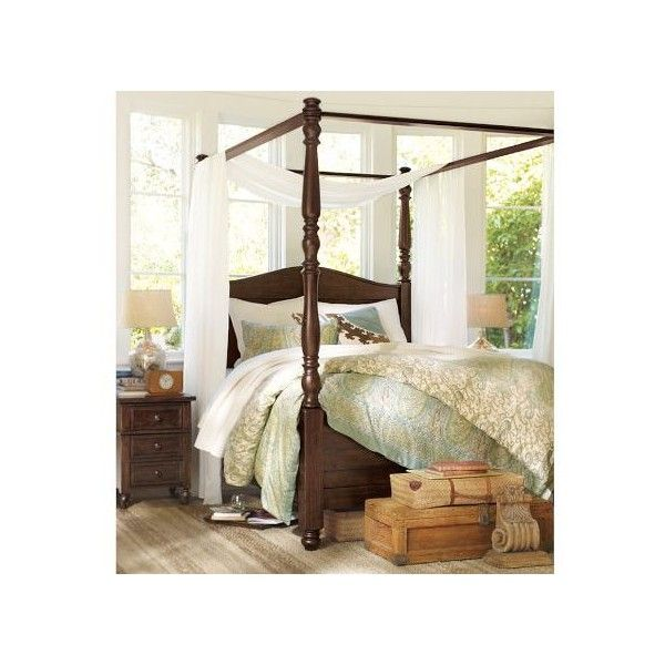 Best Cortona Canopy Bed Pottery Barn Found On Polyvore For 400 x 300