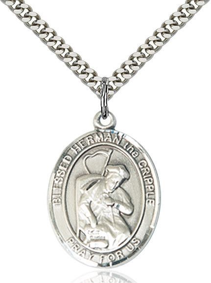 """Blessed Herman The Cripple Sterling Silver 1"""""""